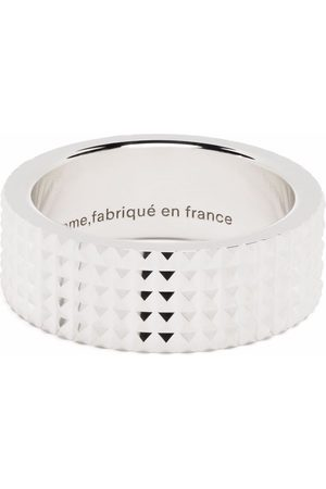 Le Gramme Ring i guilloché med pyramidband