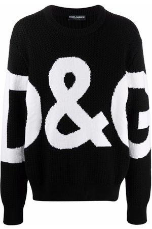 Dolce & Gabbana Stickad tröja med logotyp