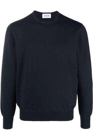 D4.0 Stickad tröja med rundad hals