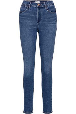 Wrangler High Rise Skinny Skinny Jeans Blå