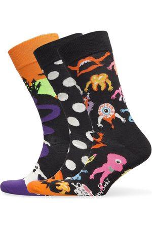 Happy Socks Man Strumpor - 3-Pack Halloween Socks Gift Set Underwear Socks Regular Socks Multi/mönstrad