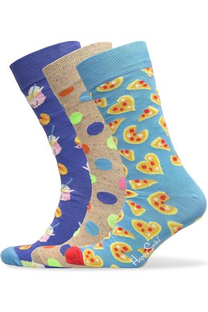 Happy Socks 3-Pack Pizza Love Socks Gift Set Underwear Socks Regular Socks Multi/mönstrad