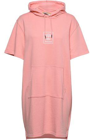 Timberland Ss Hoodie Dress Dresses T-shirt Dresses Rosa