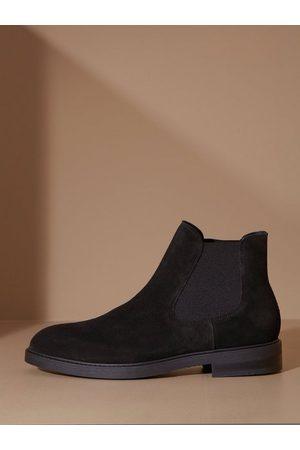 SELECTED Man Chelsea - Slhblake Suede Chelsea Boot B Noos Chelsea boots Black