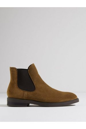 SELECTED Man Chelsea - Slhblake Suede Chelsea Boot B Noos Chelsea boots Tobacco Brown