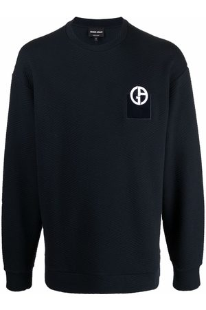 Armani Stickad tröja med logotyp