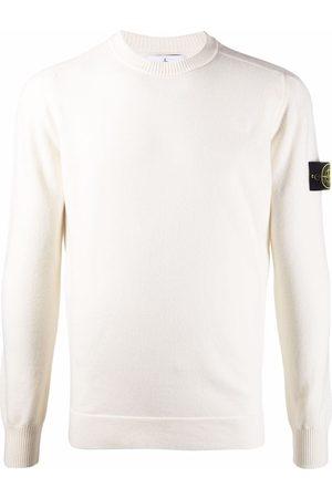 Stone Island Logo-patch crew neck sweatshirt