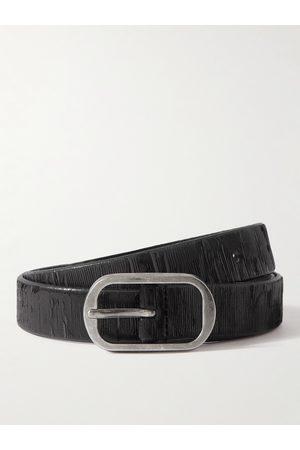 Saint Laurent 2.3cm Textured-Leather Belt