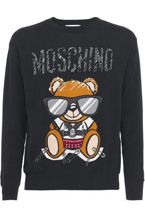 MOSCHINO Teddy Cotton Crewneck Sweatshirt