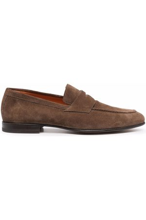 santoni Man Loafers - Leather Penny loafers