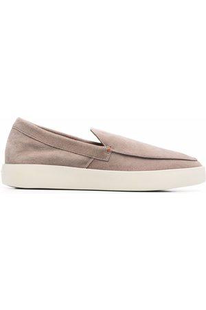 santoni Backdrop leather loafers