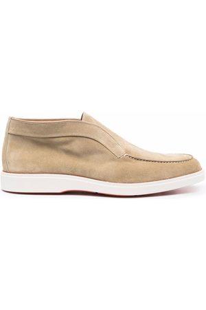 santoni Pol Elast suede loafers