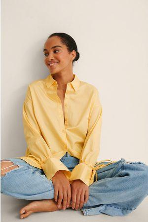 NA-KD Kvinna Skjortor - Recycled Skjorta Med Knytärm