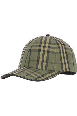 Burberry Check-print canvas baseball cap