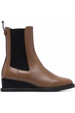 Salvatore Ferragamo Wedged leather ankle boot
