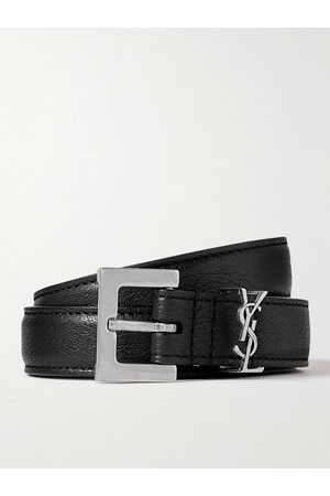 Saint Laurent 2cm Full-Grain Leather Belt