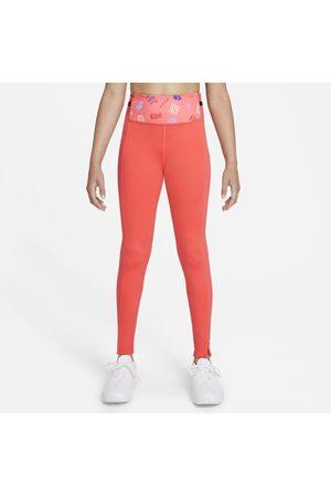 Nike Leggings med tryck Dri-FIT One Luxe för tjejer