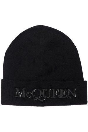 Alexander McQueen Man Mössor - Logo Cashmere & Wool Beanie
