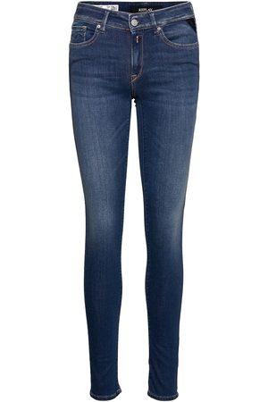 Replay Kvinna Slim - New Luz Trousers Hyperflex Re-Used Skinny Jeans