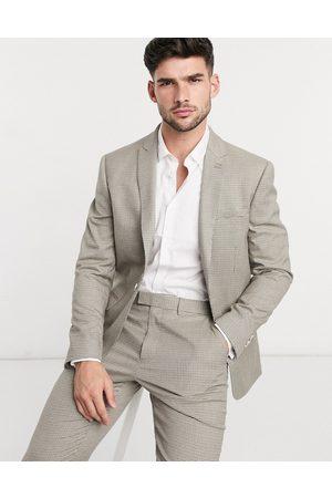 Topman – Beige enkelknäppt kavaj med smal passform, del av kostym