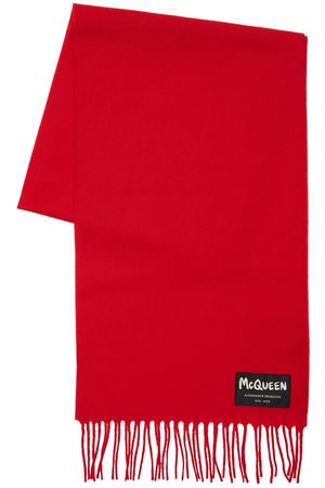 Alexander McQueen Man Sjalar - Graffiti Logo Wool Scarf