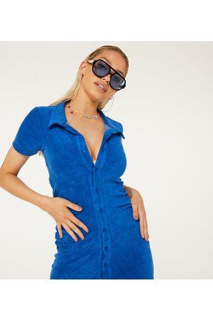 New Girl Order – Exclusive – strandklänning i minilängd med rynkning av frotté