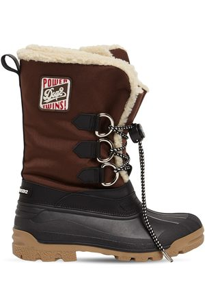 Dsquared2 Nylon Duck Snow Boots W/ Patch