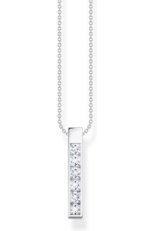Thomas Sabo Kvinna Halsband - Halsband vita stenar silver