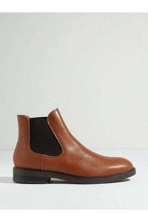 Selected Homme Slhblake Leather Chelsea Boot B Noo Chelsea boots Cognac