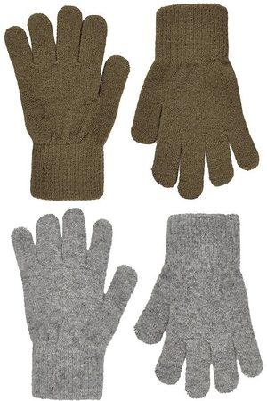 CeLaVi Handskar - Handskar - Ull/Nylon - 2-pack - Military Olive/Gråmelerad