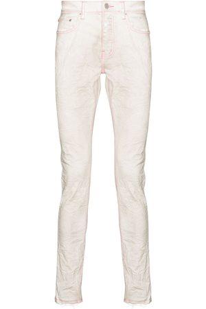 Purple Brand Neon-stitch skinny jeans