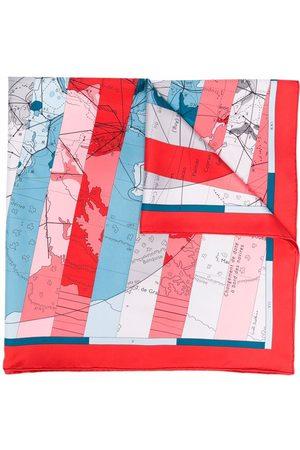 Hermès Pre-owned Le Monde Est Vaste sjal från 1990-talet