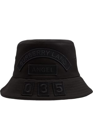 Burberry Kvinna Hattar - Cotton Canvas Multi Badge Bucket Hat