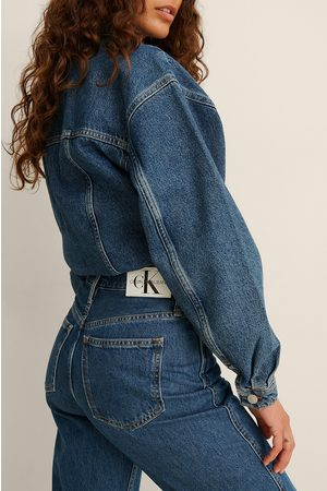 Calvin Klein High Rise Straight Ankle Jeans