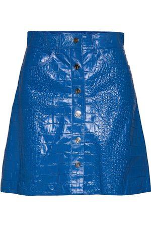 REMAIN Birger Christensen Carmela Short Skirt Leather Kort Kjol