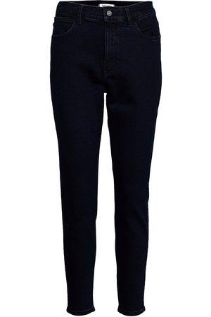 Wrangler Kvinna High waist - High Rise Skinny Raka Jeans Blå