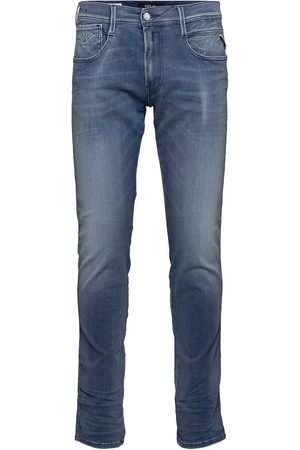 Replay Anbass Trousers White Shades Slimmade Jeans