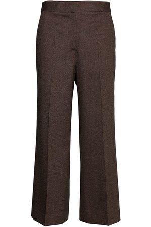 Victoria Victoria Beckham Kvinna Dressade byxor - Cropped Flared Trouser Byxa Med Raka Ben