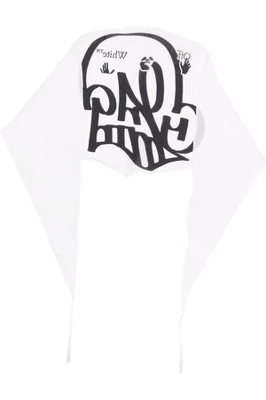 OFF-WHITE Graffiti-print scarf
