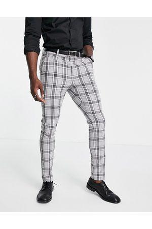 ASOS – , glencheckrutiga, skinny kostymbyxor, del av kostym