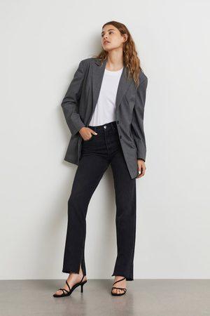 Gina Tricot Kvinna Straight - Original slit jeans