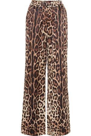 Dolce & Gabbana Leopard-print stretch-silk pants