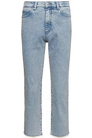 HUGO BOSS Relaxed-fit jeans in acid-washed stretch denim