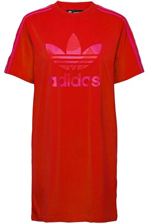 adidas Marimekko Laine Trefoil Print Tee Dress W Dresses Everyday Dresses Röd