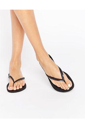 Havaianas – Svarta smala flip flops