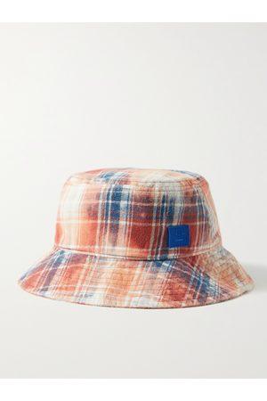 Acne Studios Logo-Appliquéd Checked Cotton-Flannel Bucket Hat