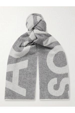 Acne Studios Man Sjalar - Reversible Two-Tone Intarsia Wool-Blend Scarf