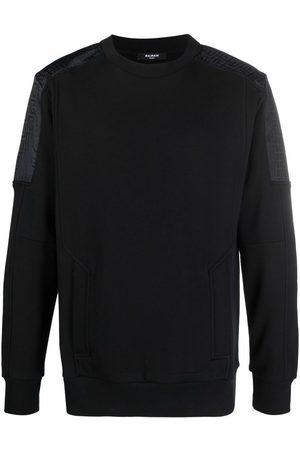 Balmain Monogram-panel sweatshirt