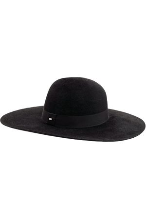 SAINT LAURENT Asymmetric Felt Hat W/grosgrain Ribbon