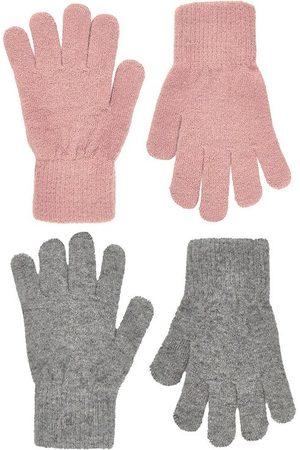 CeLaVi Flicka Handskar - Handskar - Ull/Nylon - 2-pack - Mistey Rose/Gråmelerad